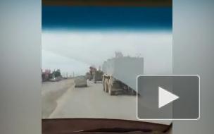 Появилось видео инцидента с бронемашинами ВС России и США в Сирии