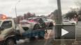 Протаранившая 12 машин Audi попала на видео после ДТП