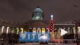 Петербуржцам показали гигантскую проекцию иконы на ...