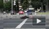 Видео: на перекрестке Стачек и Васи Алексеева сбили мотоциклиста