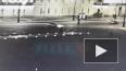Toyota врезалась в фонарный столб перед Дворцовым мостом