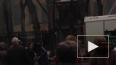 Очевидец снял пожар в Москве на улице Люсиновская