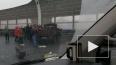 На ЗСД небольшой грузовик врезался в ограждение