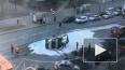"""""""Газель"""" с газовыми баллонами опрокинулась на Торжковско..."""