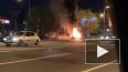 BMW врезался в столб и загорелся на перекрестке КИМа ...