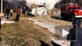 В Самарской области полностью сгорела фура: видео пожара