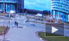 Падение светофора на проспекте Героев попало на видео