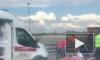 На КАД грузовик превратил такси в железный шар с пострадавшими