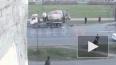 Видео: мужчина погиб после ДТП с бетономешалкой