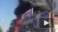 В Красноярске загорелся склад с пиломатериалами
