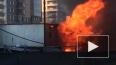 Очевидцы: на улице Бутлерова горят строительные бытовки