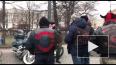 Дед Мороз на байке проехал по центру Петербурга