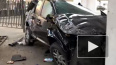 Видео из Москвы: Иномарка слетела с моста ТТК