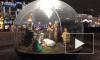 Около Казанского собора установили рождественский вертеп