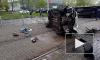 Появилось видео с места тройного ДТП на Бухарестской улице