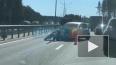 На Приозерском шоссе столкнулись два автомобиля