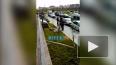 Появилось видео с места происшествия на Мебельной улице