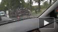 """Видео: На Пулковском шоссе перевернулась """"Газель"""", ..."""