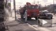 В МЧС засняли на видео процесс дезинфекции улиц в Мурино