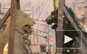 Отреставрированные грифоны с Банковского моста сменят цвет на темно-зеленый