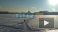 Видео: петербуржцы разгуливают по льду в ноль градусов