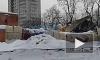 Видео: на улице Пархоменко под весом снега рухнул ангар