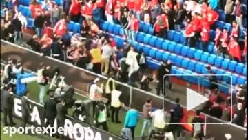 """Драка фанатов """"Ливерпуля"""" и """"Севильи"""""""