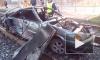 Видео из Казани: Пьяный водитель вылетел на трамвайные пути и перевернулся