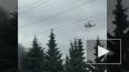 Пожар на Кировском заводе тушит вертолет МЧС: видео