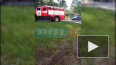 На Пулковской пожарная машина сбила электрический столб