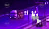 Опубликовано видео момента ДТП с двумя грузовиками на МКАД