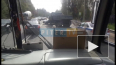 "Видео: На Выборгском шоссе ""Камаз"" протаранил легковушку"