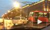 Иномарка протаранила трамвай на Московском: трое в больнице, один в тяжелом состоянии