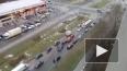 """Четыре авто собрались в """"паровозик"""" на проспекте Королев..."""