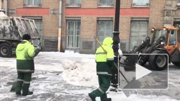 Улицы Петербурга начали обрабатывать гранитной крошкой