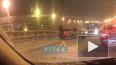 На Российском путепроводе легковушка развернула маршрутк...