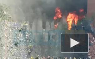 МЧС: пожар в здании на Складской улице локализован