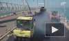 На арке Крымского моста начали укладывать асфальт