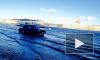 Вышедшая из берегов Нева затопила Университетскую набережную