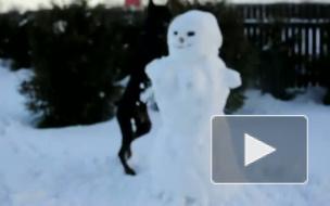 Расправа над снеговиком