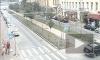 Грузовик прижал Опель на набережной Макарова