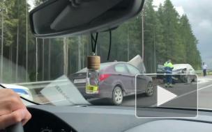 """На """"Скандинавии"""" собралась 17-километровая пробка из-за лобового столкновения двух легковушек"""