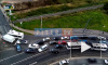 Видео: ДТП на въезде в Кудрово заблокировало движение на улице Дыбенко
