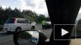 Перед въездом в Сестрорецк машина сбила мотоциклиста