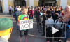 "Видео: на акции у Гостиного двора задержали протестующего с плакатом ""Пудинг лор"""