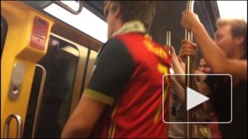 Бельгийские фанаты празднуют победу