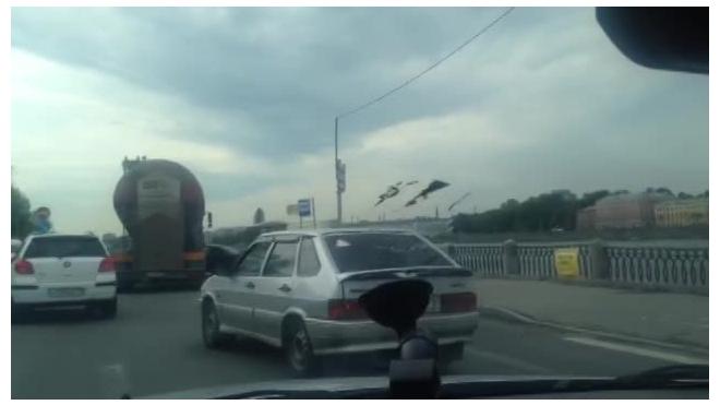 Из-за ДТП с цементовозом на Октябрьской набережной собралась огромная пробка