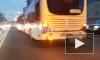 """ДТП на проспекте Композиторов: столкнулись """"Лексус"""" и автобус с пассажирами"""