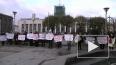 """Работники совхоза """"Ручьи"""" пикетируют у Финляндского ..."""