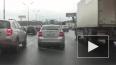 На 105 километре МКАД обстреляли женщину - водителя